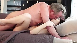 Old and Young Porn Sweet innocent girlfriend gets fucked by grandpa