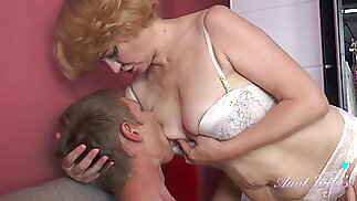 56 Year Old Auntie Aliona Catches Nephew Spying on her.