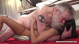 Fresh Pussy Rejuvenates Old Citizen's Old Cock