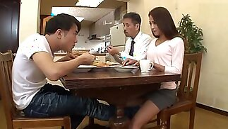 hot asian mom and her son