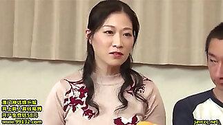 Japanese mom fuck stepson